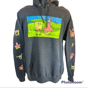 🆕 Nickelodeon Spongebob and Patrick Hoodie Large